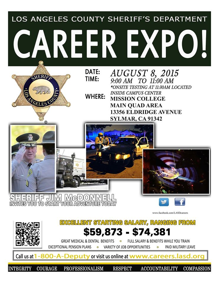 Los Angeles County Sheriff Department Career Expo – Aug  8th