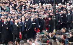 LONDON, ENGLAND - NOVEMBER 11: Veterans attend the annual Remembrance Sunday memorial on November 11, 2018 in London, England. The armistice ending the First World War between the Allies and Germany was signed at Compiègne, France on eleventh hour of the eleventh day of the eleventh month - 11am on the 11th November 1918. This day is commemorated as Remembrance Day with special attention being paid for this year's centenary. (Photo by Chris Jackson/Getty Images)
